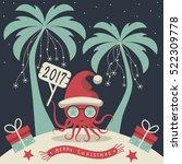 the cover design. christmas on... | Shutterstock .eps vector #522309778