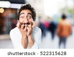 young funny man scared pose.... | Shutterstock . vector #522315628