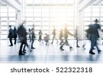 blurred business people moving... | Shutterstock . vector #522322318