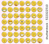 set of emoticons  icon pack ... | Shutterstock .eps vector #522322510