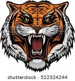tiger face | Shutterstock .eps vector #522324244