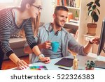 freelance designers working... | Shutterstock . vector #522326383
