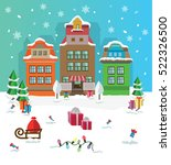 merry christmas and happy new... | Shutterstock .eps vector #522326500