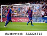 valencia  spain   oct 22  messi ... | Shutterstock . vector #522326518