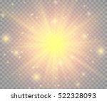glow light effect. star burst... | Shutterstock .eps vector #522328093