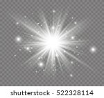 glow light effect. star burst... | Shutterstock .eps vector #522328114