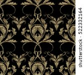 damask baroque seamless pattern.... | Shutterstock .eps vector #522332164