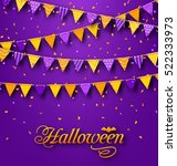 illustration halloween party... | Shutterstock . vector #522333973