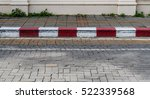 concrete sidewalk with red and... | Shutterstock . vector #522339568