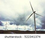 windmill turbine fuel and power ... | Shutterstock . vector #522341374