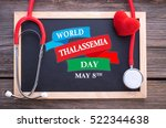 world thalassemia  may 8th on... | Shutterstock . vector #522344638
