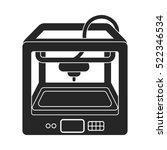 3d printer in  black style... | Shutterstock . vector #522346534