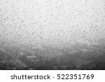 Rain Drops On Window White...