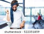 young funny man dancing | Shutterstock . vector #522351859