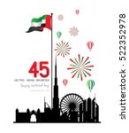 united arab emirates national... | Shutterstock .eps vector #522352978