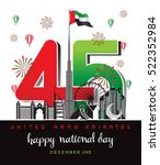 united arab emirates national... | Shutterstock .eps vector #522352984