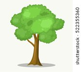 big tree cartoon for park and... | Shutterstock .eps vector #522355360