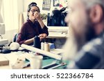 resting lunch time pizza concept | Shutterstock . vector #522366784