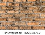 close up of old brick wall | Shutterstock . vector #522368719