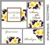 romantic invitation. wedding ... | Shutterstock . vector #522374983
