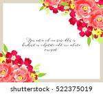 romantic invitation. wedding ... | Shutterstock .eps vector #522375019