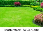 green lawn  the front lawn for... | Shutterstock . vector #522378580