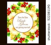 romantic invitation. wedding ... | Shutterstock . vector #522381190