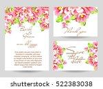 vintage delicate invitation... | Shutterstock .eps vector #522383038