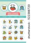 icon set coffee vector | Shutterstock .eps vector #522388720