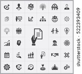 business planning icons... | Shutterstock .eps vector #522393409