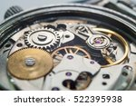 detail of watch machinery on... | Shutterstock . vector #522395938