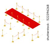 red carpet and rope barrier set ... | Shutterstock .eps vector #522396268