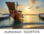 Tropical Beach  Long Tail Boats ...