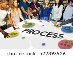 process progress creative work... | Shutterstock . vector #522398926