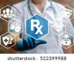 rx health care concept icon.... | Shutterstock . vector #522399988