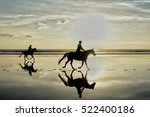 silhouette photo of horse... | Shutterstock . vector #522400186