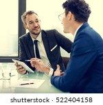business corporate colleagues... | Shutterstock . vector #522404158