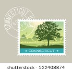connecticut postage stamp... | Shutterstock .eps vector #522408874