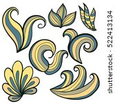 sketchy vector hand drawn... | Shutterstock .eps vector #522413134