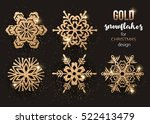 set of gold christmas... | Shutterstock .eps vector #522413479