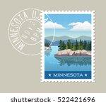 minnesota postage stamp design. ...   Shutterstock .eps vector #522421696