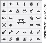 camping table icon. camping... | Shutterstock .eps vector #522423220