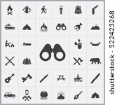 binoculars icon. camping icons... | Shutterstock .eps vector #522423268
