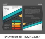 vector business flyer  magazine ... | Shutterstock .eps vector #522423364