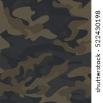 seamless camouflage pattern... | Shutterstock .eps vector #522430198