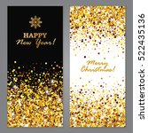 happy new year and merry... | Shutterstock .eps vector #522435136