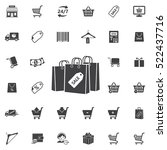 shopping bag vector icon.... | Shutterstock .eps vector #522437716