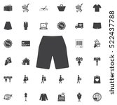 shorts icon. universal shop set ... | Shutterstock .eps vector #522437788