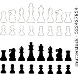 standard chess pieces | Shutterstock .eps vector #522437854
