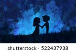 digital painting of young... | Shutterstock . vector #522437938